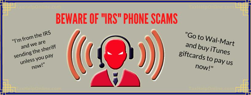 "BEWARE of ""IRS"" Phone Scams"