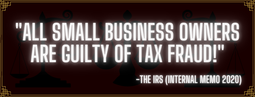 The IRS thinks YOU are a TAX CHEATER